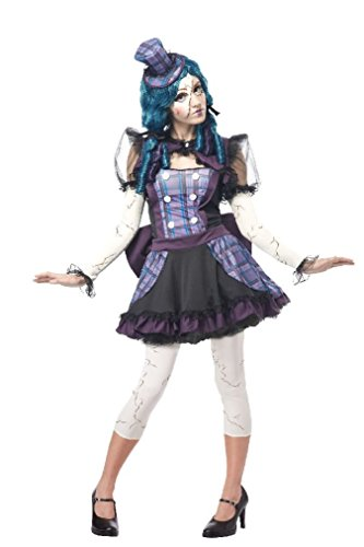 [Fancy Broken Doll Rag Doll Puppet Halloween Adult Women Costume] (Broken Doll Costume For Adults)