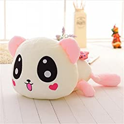 Elstey Baby Plush Animal Panda Pillow Toy for Birthday Gifts with Music (35cm, pink)