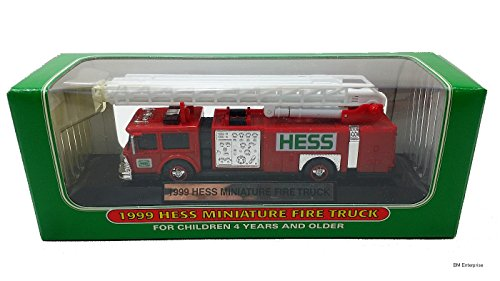 1999 Hess Minature Toy Fire Truck - 1