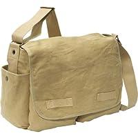 Khaki Vintage Classic Messenger Bag - Jack Bag (24) by Rothco