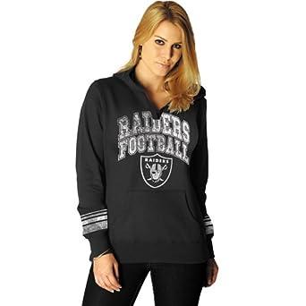 NFL Oakland Raiders Ladies Preseason Favorite II Pullover Hoodie - Black (Small)