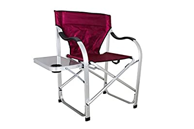 Ming's Mark SL1206-Burgundy Heavy Duty Full Back Folding Director's Chair