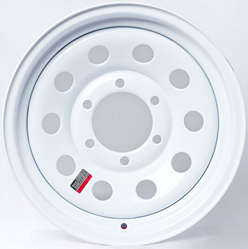 2-Pack Trailer Wheel White Rims 16 x 6 Modular Style (6 Lug On 5.5