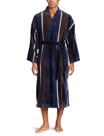 Majestic International Men's Heavenly Velour Kimono, Java, One Size