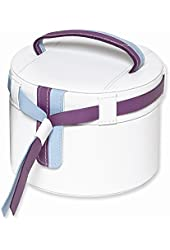 Trim Jewelry Case Available in White, Green & Purple/White, Pink & Purple