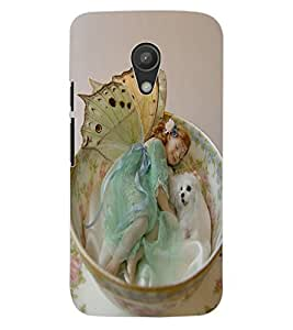 ColourCraft Cute Baby Angel Design Back Case Cover for MOTOROLA MOTO G2