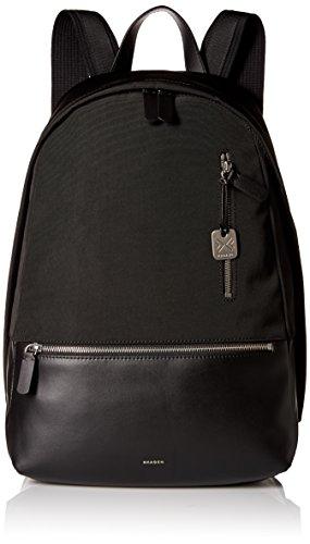 skagen-mens-kroyer-nylon-and-leather-backpack-black
