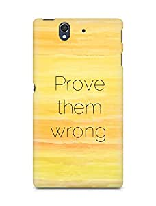 AMEZ prove them wrong Back Cover For Sony Xperia Z