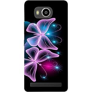 Casotec Butterflies Neon Light Design 3D Printed Hard Back Case Cover for Lenovo A7700