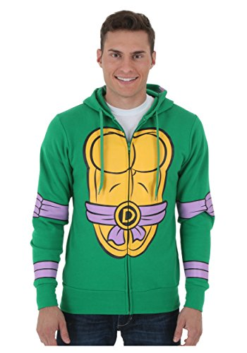 Teenage Mutant Ninja Turtles Zip Zip Up Hoodie, Donatello