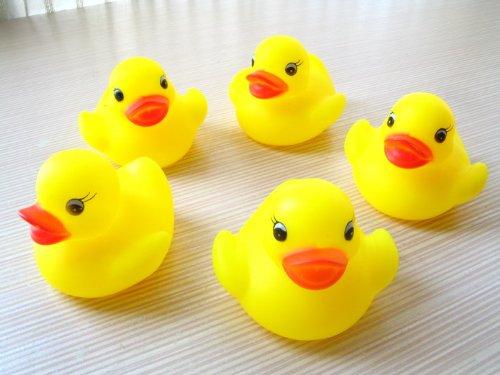 (ココ)COCO キッチン お風呂 で ぷかぷか 黄色 の アヒル 5匹 の 兄弟 押すと音がする!(13-4)