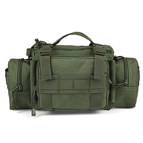 YAAGLE Outdoor Hüfttasche 3P Nylon Schultertasche Kuriertasche Umhängetasche Freizeit Reisetasche Sporttasche-armee-grün