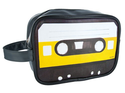 Wanted Presentime Unisex Retro Cassette Tape Wash Bag - made from robust materials - cool design