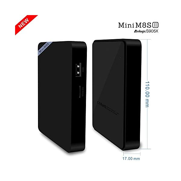 Plater-Mini-M8SAndroid-Marshmallow-60-Smart-TV-Box-Mdia-Player-KODI-161-Amlogic-S905X-Quad-Core-ARM-Cortex-A53-CPU-2GB-DDR3-8GB-eMMC-up-to-2GHz-Supports-HDR10-and-HLG-HDR-processing-100Mbps-LAN-BT-40-