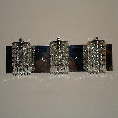 180W Light Wall moderne avec 3 lumiššres en cristal et perles Pendentifs