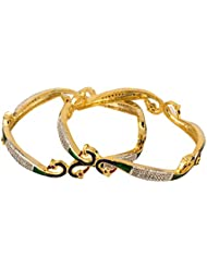 Chrishan Gold Non-Precious Metal Bangle Set For Women - B01J8XKI3I