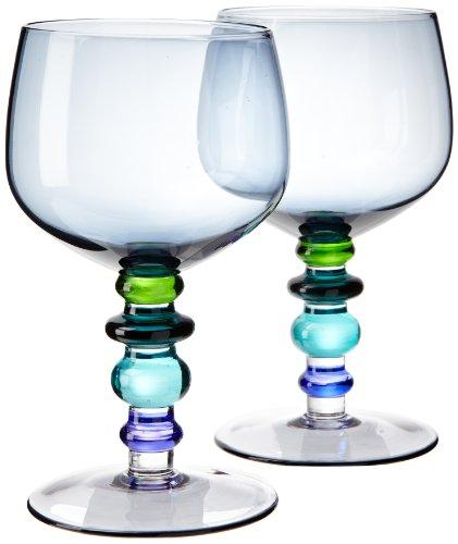 5016240 Weinglas 2er Set, Blau/Grün, 35cl