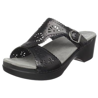Dansko Women's Sapphire Sandal,Black,43 EU / 12.5-13 M US