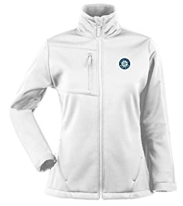 Seattle Mariners Ladies Traverse Jacket (White) by Antigua