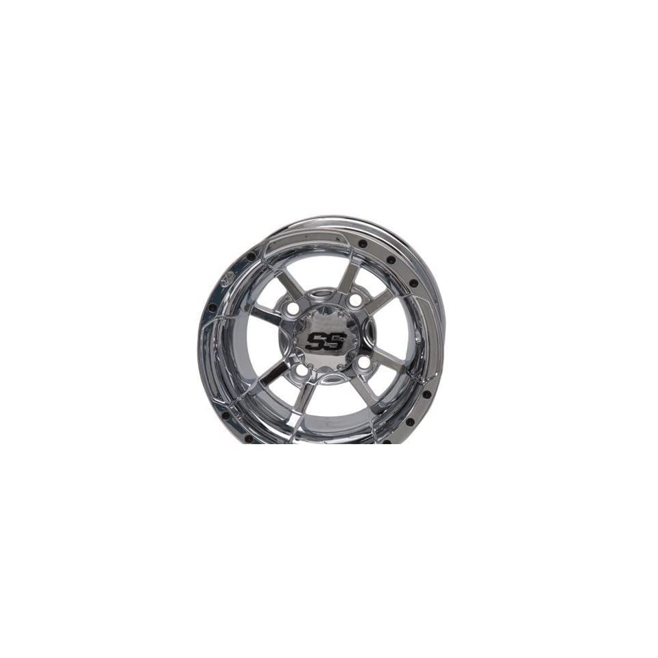 SS112 Golf Cart Wheel   12x7   2+5 Offset   4/4   Chrome, Manufacturer ITP, GOLF SS112 12X7 4/4 2+5 CHR