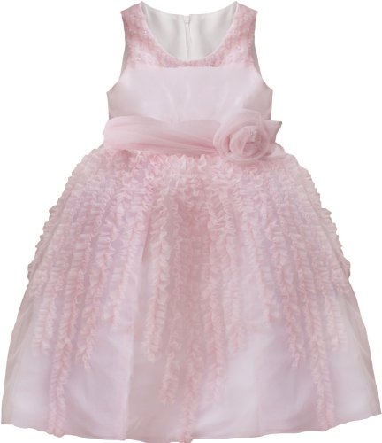 Isobella & Cloe Fairy Floss Sleeveless Full Skirt Special Occasion Dress And Flower Headband Set. Light Pink.(12M-6) Size 4T.