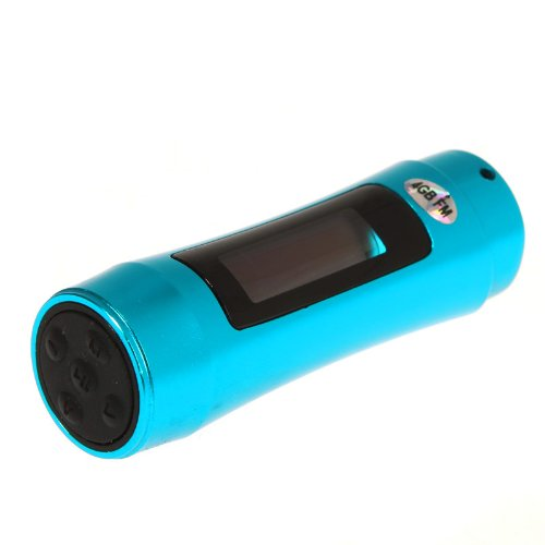 Kingzer Portable Waterproof Mp3 Player Usb Led Swimming Diving Earphone Fm 4Gb 4G Blue