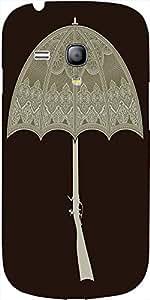 Snoogg Umbrella Gun 2495 Case Cover For Samsung Galaxy S3 Mini