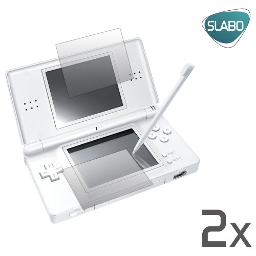 2 x Slabo Displayschutzfolie Nintendo DS Lite &quot;1x BILDSCHIRM + 1x TOUCHSCREEN&quot; Displayschutz No Reflexion|Keine Reflektion MADE IN GERMANY