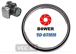 Bower FA-DC67A Ring Adapter Tube for Canon PowerShot SX30 IS, SX40 HS & SH50 HS Digital Camera (67mm)