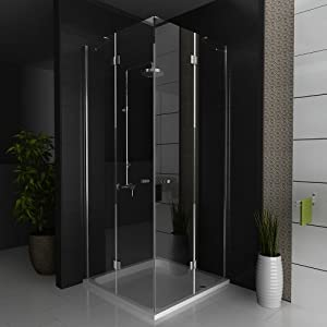 duschkabine eckeinstieg eck duschabtrennung dusche ca 80 x 80 x 200 cm echtglas eck. Black Bedroom Furniture Sets. Home Design Ideas