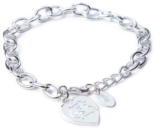 NCAA North Carolina Tar Heels Heart Tag Bracelet at Amazon.com