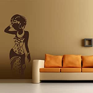 Wall decal art decor decals sticker woman for African wall mural