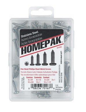HOMEPAK 41955 Pan Head Phillips Sheet Metal Screws