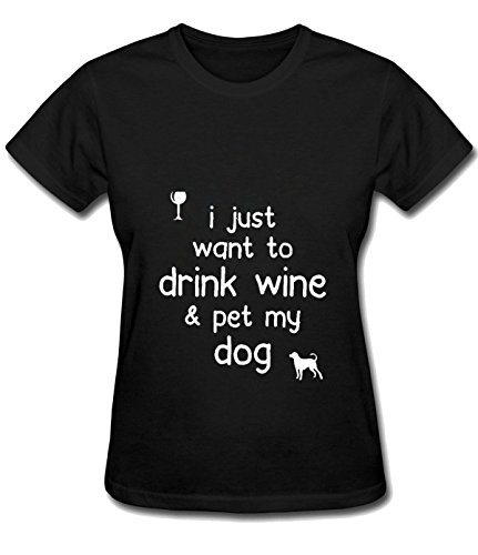 Iron Maiden Tool Women's Drink wine and pet my dog comfort T shirts black (Advanced Pants Hanger compare prices)