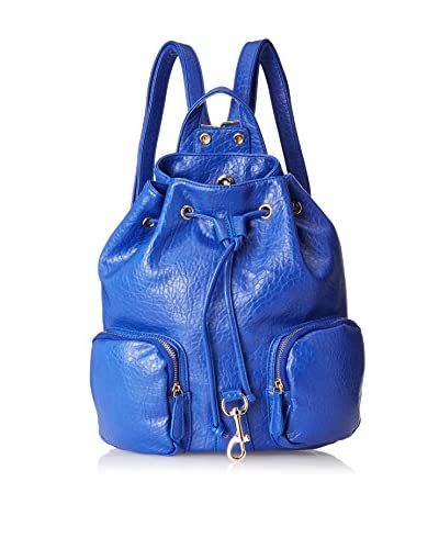 Nila Anthony Women's Mixed Metal Cap Backpack, Blue