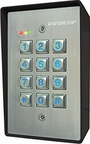 Seco-Larm Enforcer Access Control Keypad, Outdoor, Surface Mount (Sk-1123-Sq)