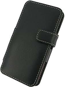 Monaco HTC Droid DNA Monaco Book Type Leather Case - Non-Retail Packaging - Black