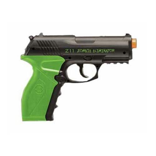 Crosman Undead Apocalypse Phlegm Semi-Automatic Airsoft Pistol, Green-Black