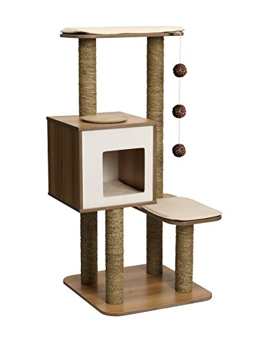 Vesper Cat Furniture, Walnut, V-High Base