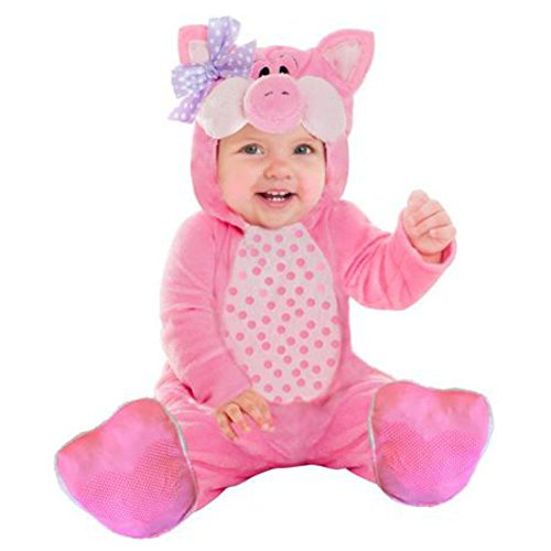 Goodmark Infant Girls Little Piggy Costume Plush Pink Pig Jumper