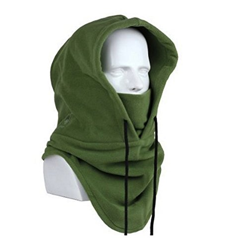 Upmall Winter Heavyweight Warm Windproof Balaclava Outdoor Sports Mask (Army green)