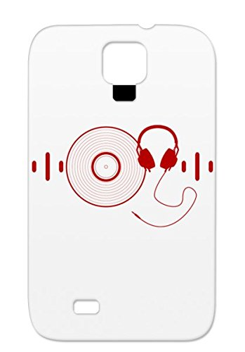 Headphones With Vinyl Record In Red Music Apparel Stores Band T Shirt Dj Audio Shirts Miscellaneous Dj Beat Headphone Tshirts Music Good Headphones Tshirt Djs Electronic Beat Red For Sumsang Galaxy S4 Case