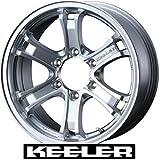 【WEDS:KEELER FORCE】キーラーフォース:16X7.0J 6H +5 139.7 185サーフ・95プラド・ランクル80等【1本の価格です】