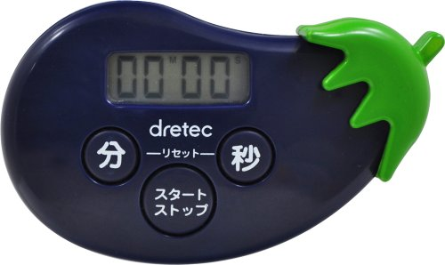 DRETEC [with a convenient can lookout maximum set up to 99 minutes 59 seconds of the time / repeat function] eggplant timer T-524PP (Eggplant Kitchen Timer compare prices)