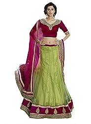 Sheknows Green Net Embroiderd Lehenga Choli