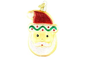 Old World Christmas - Santa Face Sugar Cookie Glass Ornament
