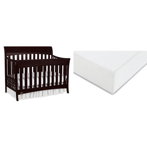 Graco Rory Convertible Crib + Graco Premium Foam Crib and Toddler Bed Mattress, Espresso (Graco Bed Frame compare prices)