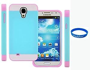 3D Prime strass scintillants TUFF Silicone Etui Coque Case Protection dur Housse de pour Samsung Galaxy S4 mini i9190 i9192 i9195 Bleu, Blanc + rose rose