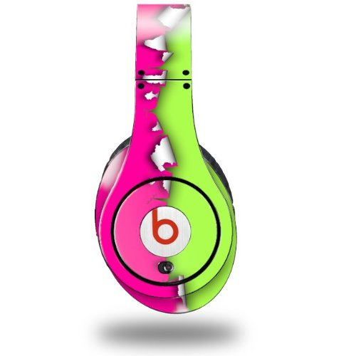 Ripped Colors Hot Pink Neon Green Decal Style Skin (Fits Original Beats Studio Headphones - Headphones Not Included)