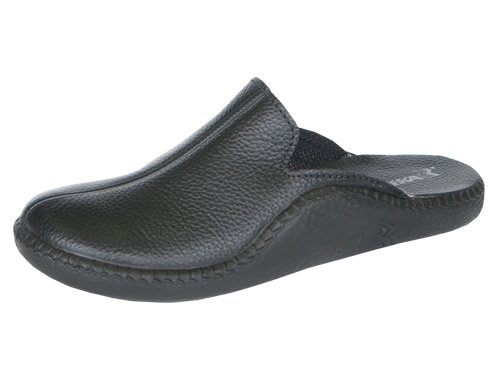 Buy Low Price Romika Mokasso 202 Men's Black Leather Slipper (B004Q01P54)